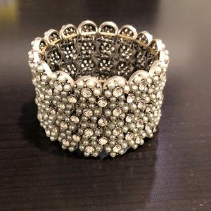 Jewelry - Cuff With CZ's and faux pearls Ladies' Bracelets